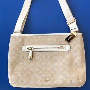 Coach purse! Cream colored